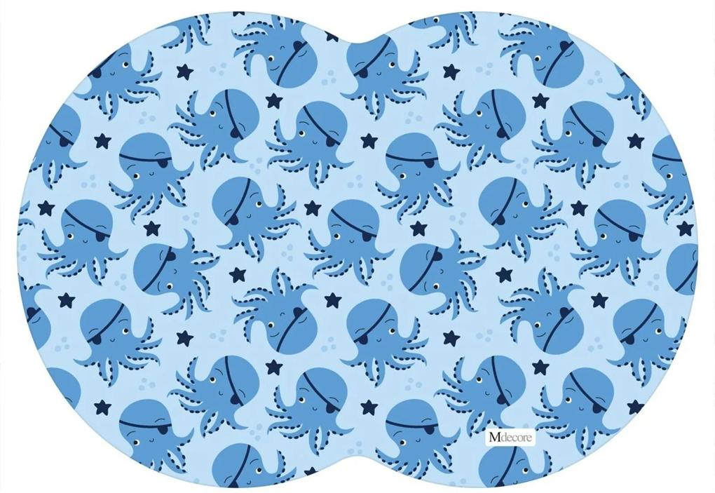 Tapete PET Mdecore Geométrico Polvo Azul 54x39cm