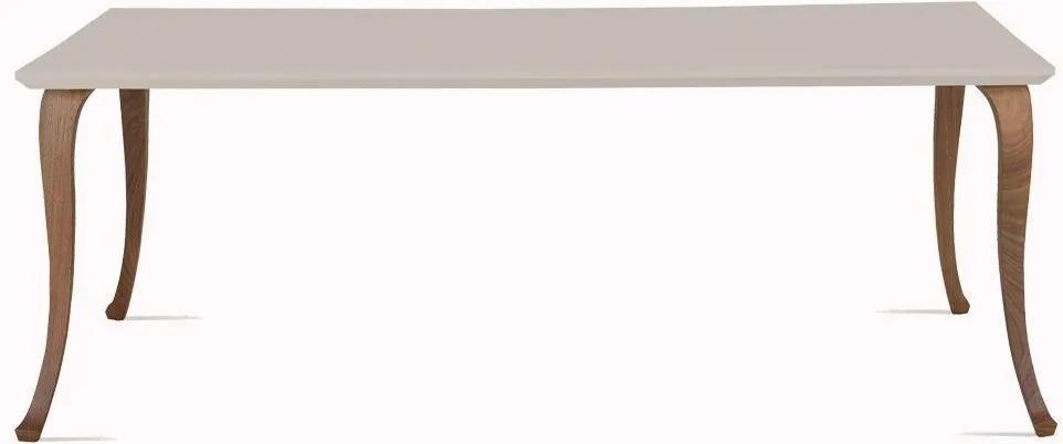 Mesa Luis XV 200cm Fendi/Castanho - Daf Mobiliário