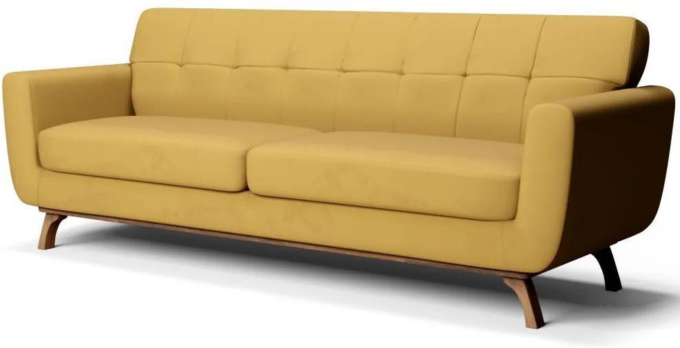 Sofá 3 Lugares Sala de Estar Loki 210 cm Veludo - Gran Belo