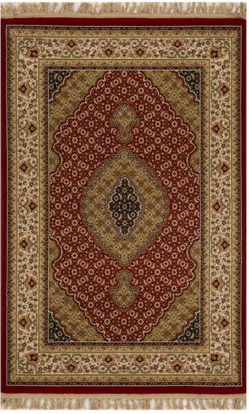 Tapete Persa Tabriz Vermelho e Bege - 100x150cm