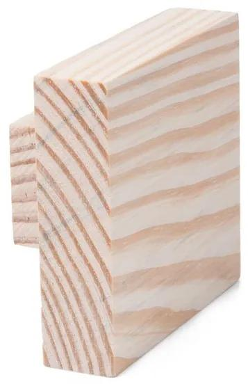 Cabideiro de madeira quadrado