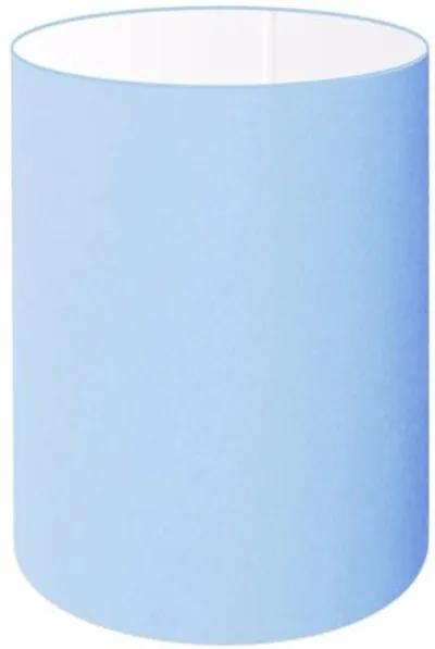 Cúpula Abajur e Luminaria em Tecido Cilíndrica Vivare Cp-8004 Ø15x25cm - Bocal Europeu - Azul Bebê