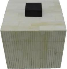 Caixa de Resina P Estilo Osso Off White e Preta