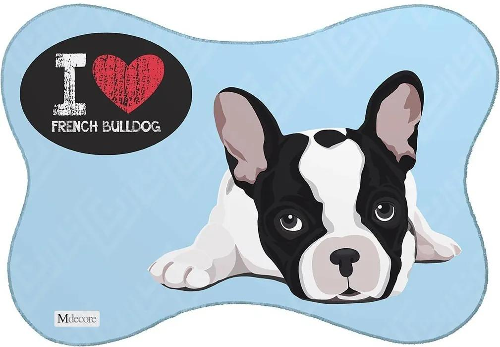 Tapete PET Mdecore Bulldog Azul46x33cm