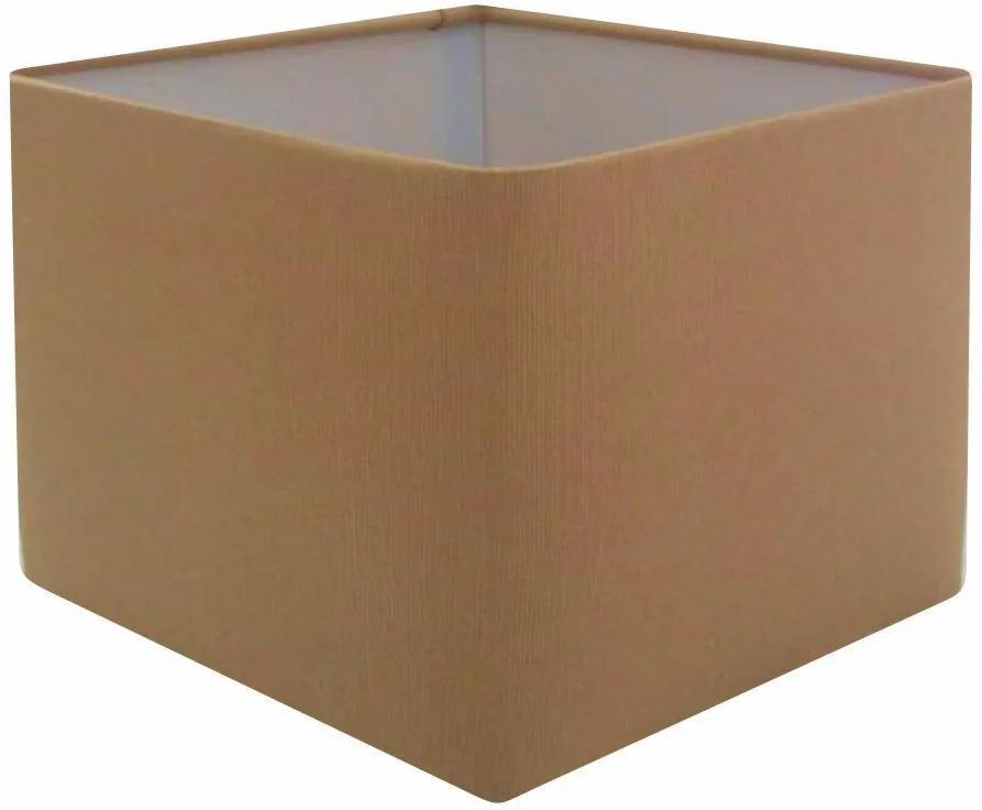 Cúpula em Tecido Quadrada Abajur Luminária Cp-4077 30/50x50cm Palha