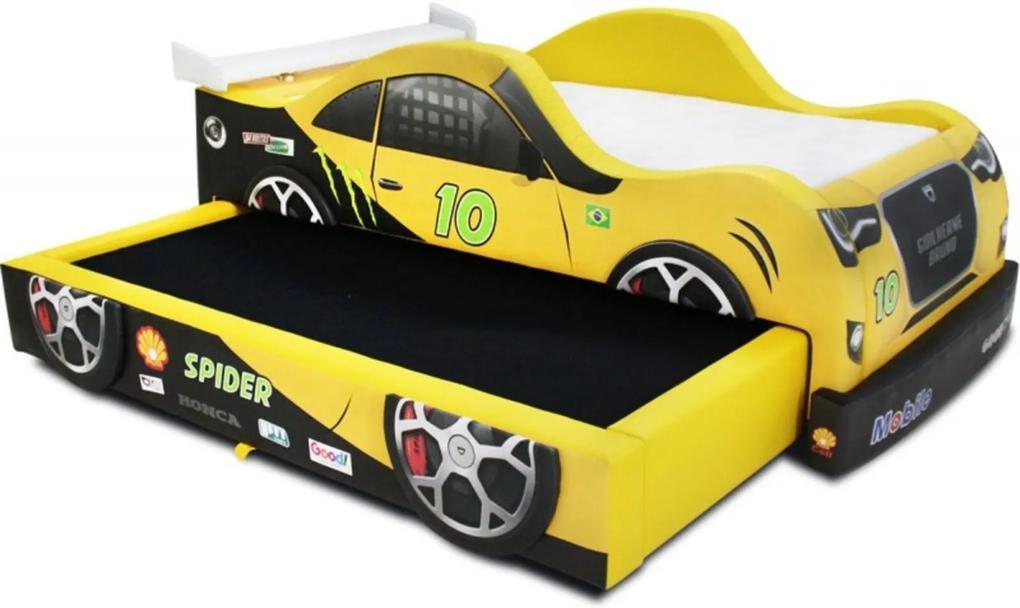 Bicama Spider Cama Carro Do Brasil Amarela