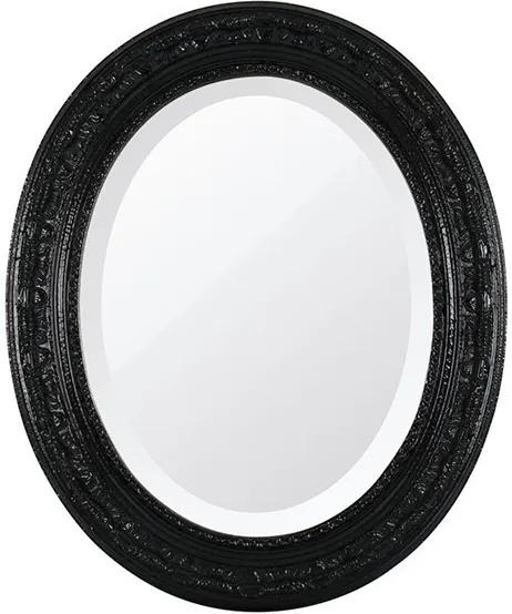 Espelho Oval Bisotê Preto Absoluto Médio