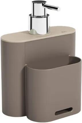 Dispenser Flat 500ml 9x13x16,5cm Warm Gray/Light Gray - 17002/3334 - Coza - Coza