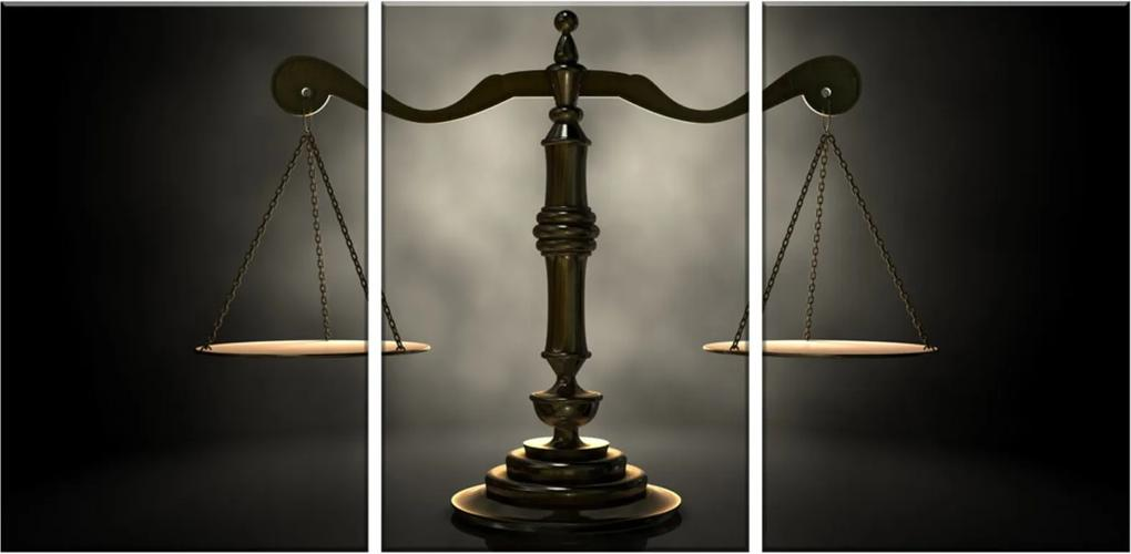 Quadro Oppen House  60x120cm Decorativo Interiores Balança Advocacia Direito