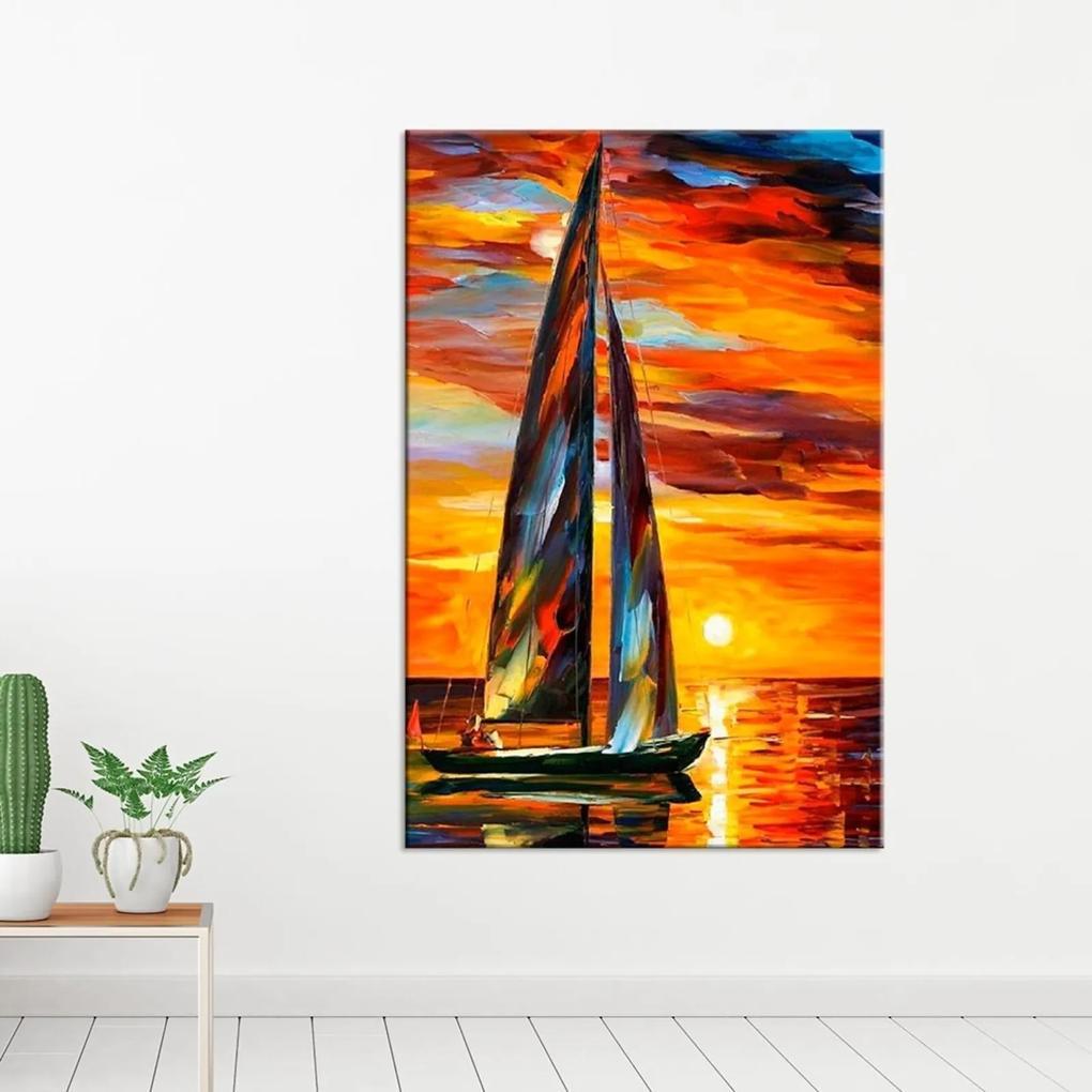 Tela Decorativa Sail Boat Grande Love Decor