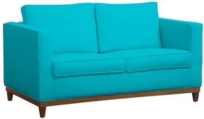 Sofá Aspen 145cm 2 Assentos 2 Lugares Suede Azul Claro - D'Monegatto