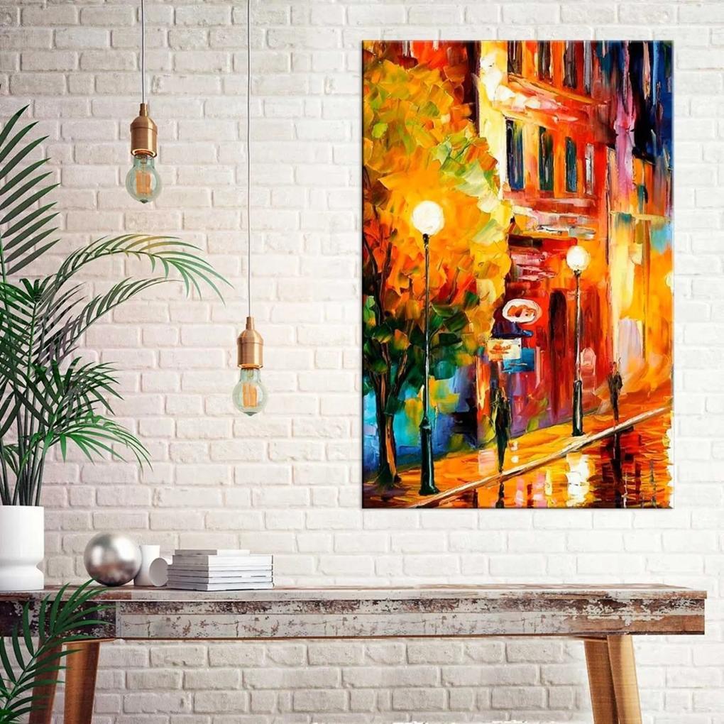 Tela Decorativa Pintura Cidade Grande Love Decor