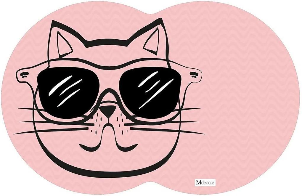 Tapete PET Gato Rosa54x39cm