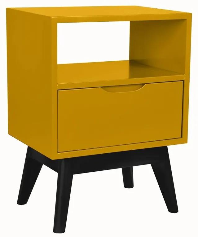 Mesa de Cabeceira On Amarelo - Wood Prime MP 221050