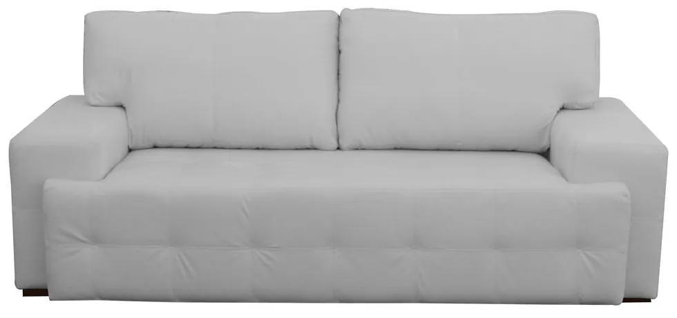 Sofá 3 Lugares Sala de Estar Roma 230 cm Couro Branco - Gran Belo