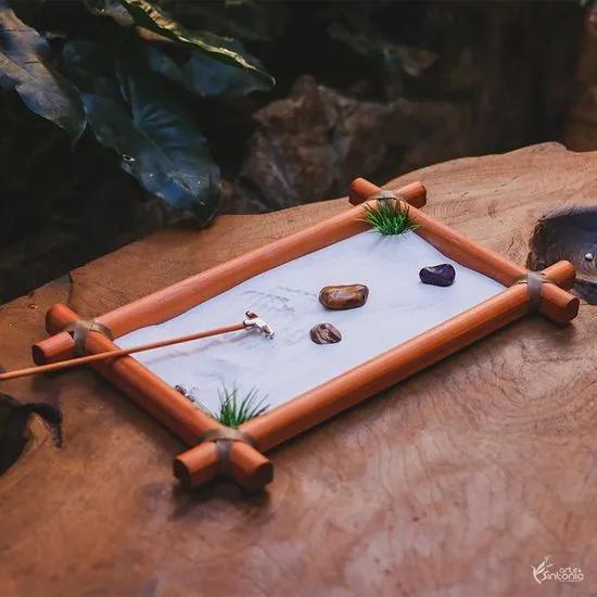 Jardim Zen Simples Marrom