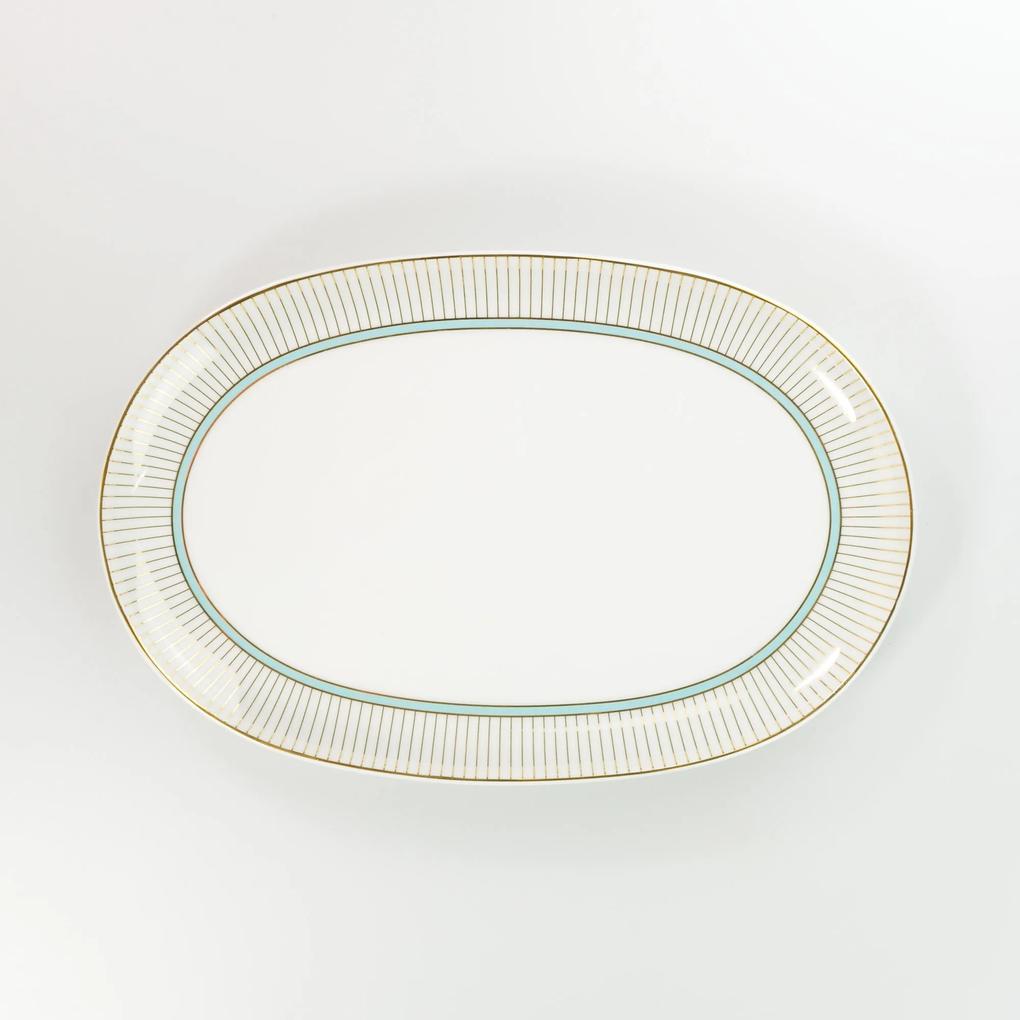 Travessa Rasa Oval 32 cm Porcelana Schmidt - Dec. Audrey