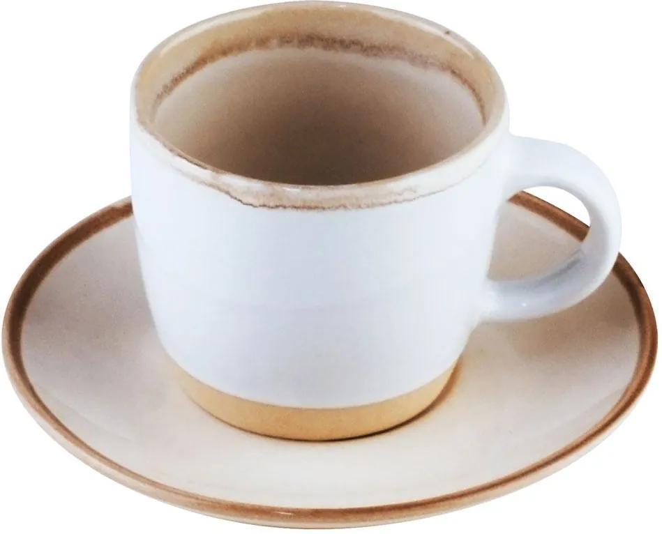 Conjunto 4 Xícaras Porcelana Para Café Com Pires Good Vibes 115ml