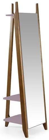 Estante C/Espelho Nasur em Madeira Maciça - Lilás