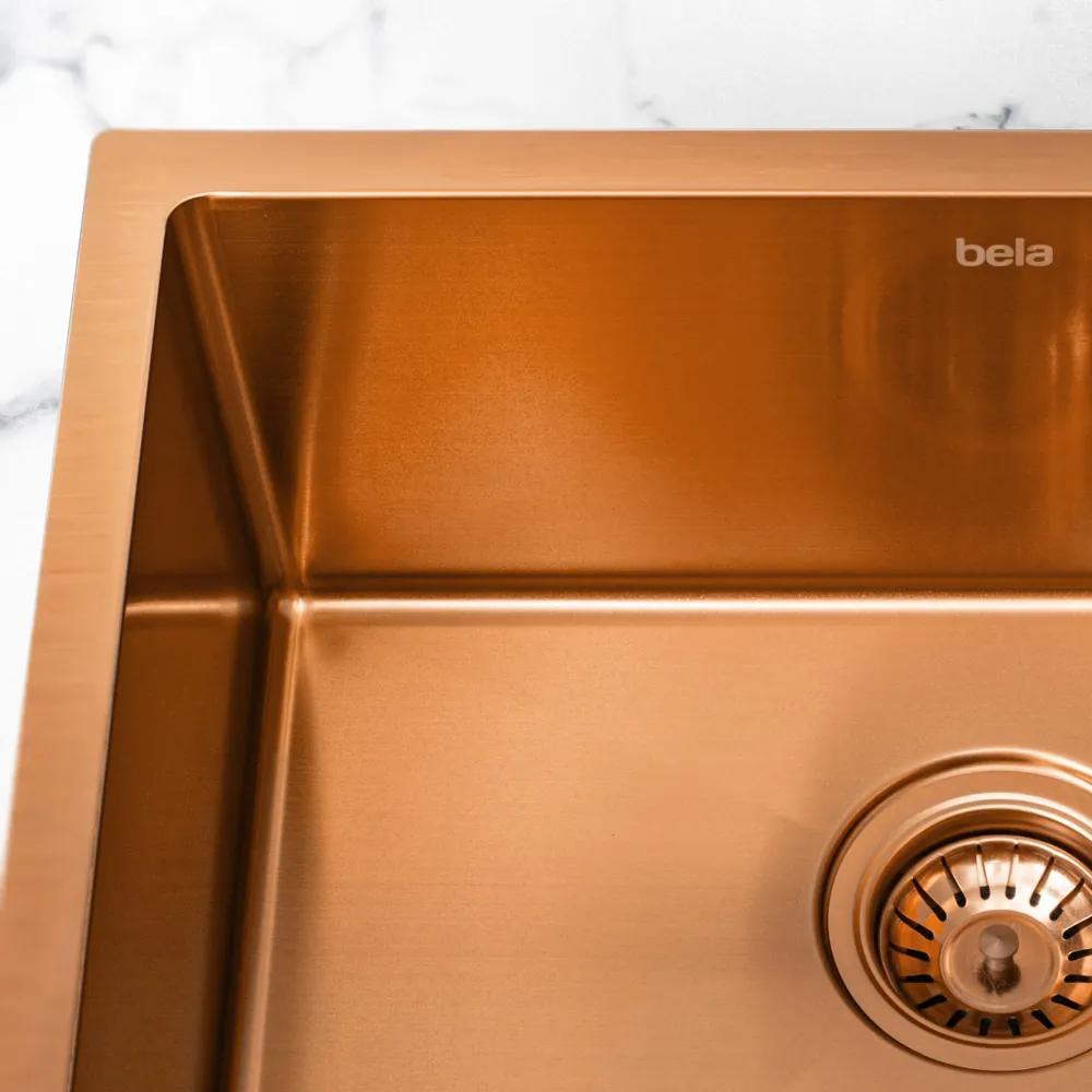 Cuba de Cozinha Inox Retangular 54x41 cm (Kyoto Rosé Gold)