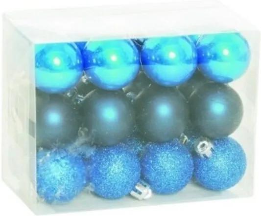 Caixa Bolas para Arvore Azul Cobalto - 24 Unidades 3cm