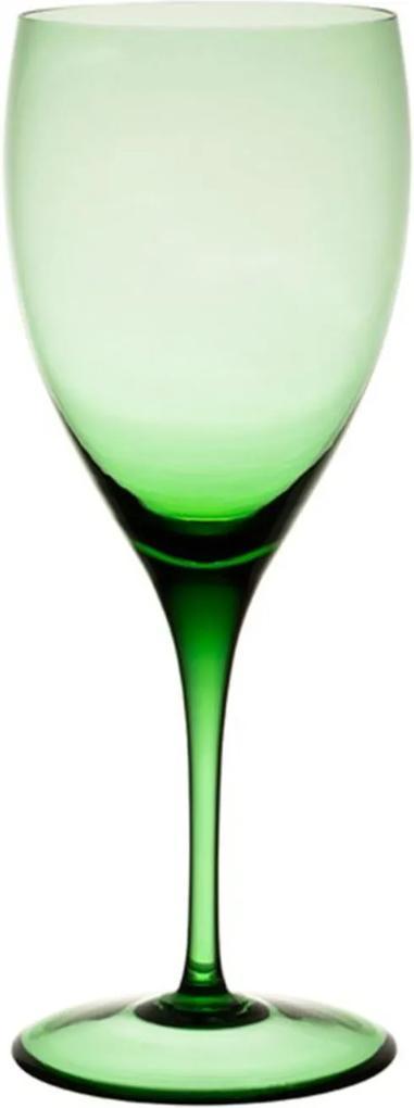 Jogo de 6 Taças De Cristal Água 470ml Verde Claro