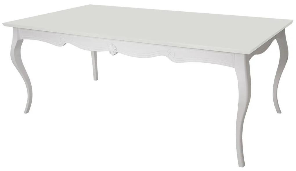 Mesa de jantar Retangular Préciosité - 6 Lugares - 1,5m - Branco  Provençal Kleiner Schein