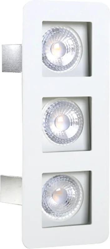 Plafon Embutir Aluminio Branco 22cm