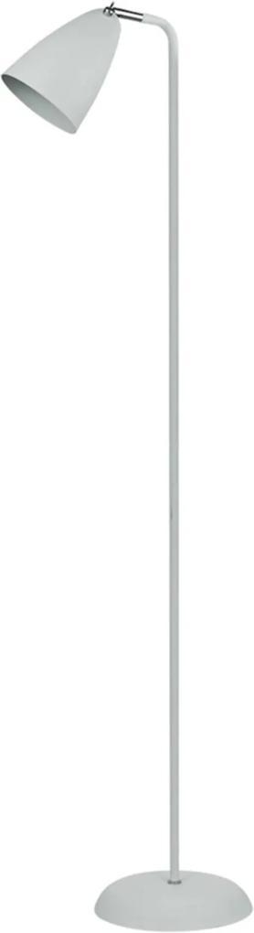 Abajur de Chão Premier Iluminação Ícone Cúpula Articulável Metal Branco
