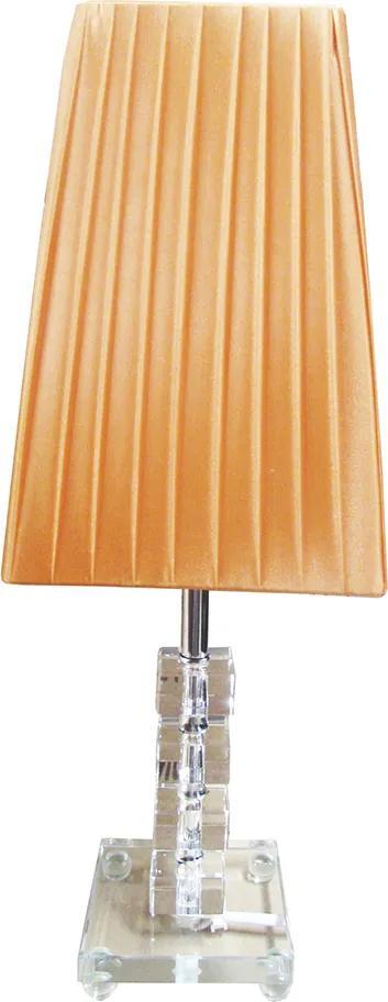 Abajur de Mesa em Acrílico Laranja 43 cm X 15 cm