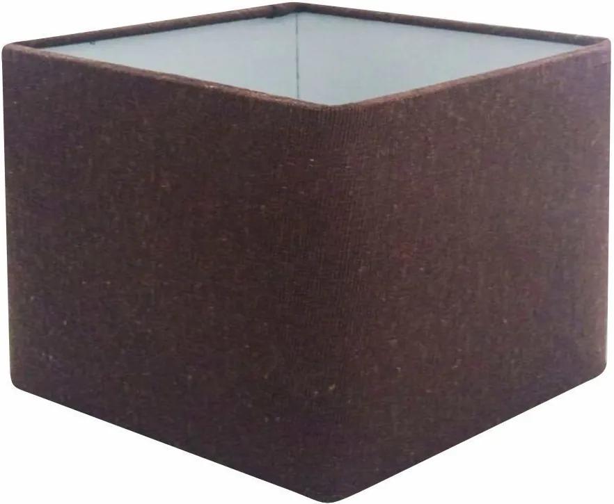 Cúpula em Tecido Quadrada Abajur Luminária Cp-4077 30/50x50cm Café