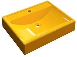 Cuba Pia de Apoio para Banheiro Retangular RT49 C08 Amarelo - Mpozenat