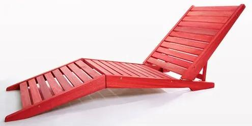 Espriguicadeira Dobravel Sunset Vermelha 171cm - 47302 Sun House