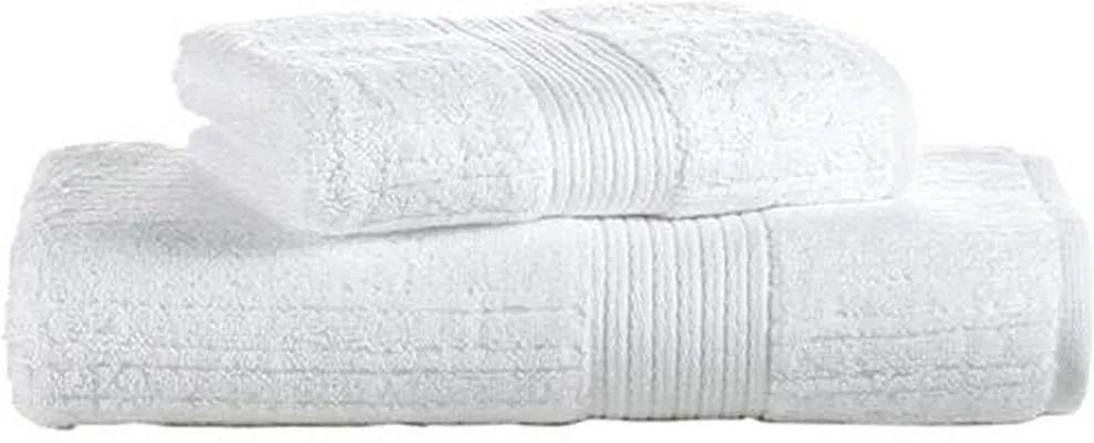 Toalha de Banho Buddemeyer Fio Penteado Branco 1011