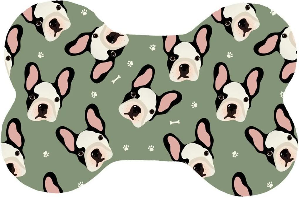 Tapete Wevans Pet Mini Bulldog Verde