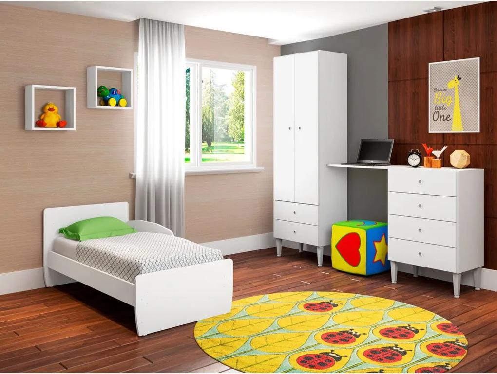 Quarto Infantil com Berço Docinho Branco Art in Móveis