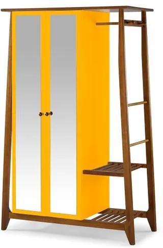 Armario Multiuso Stoka 2 Portas Amarelo Estrutura Amendoa 169cm - 60972 Sun House