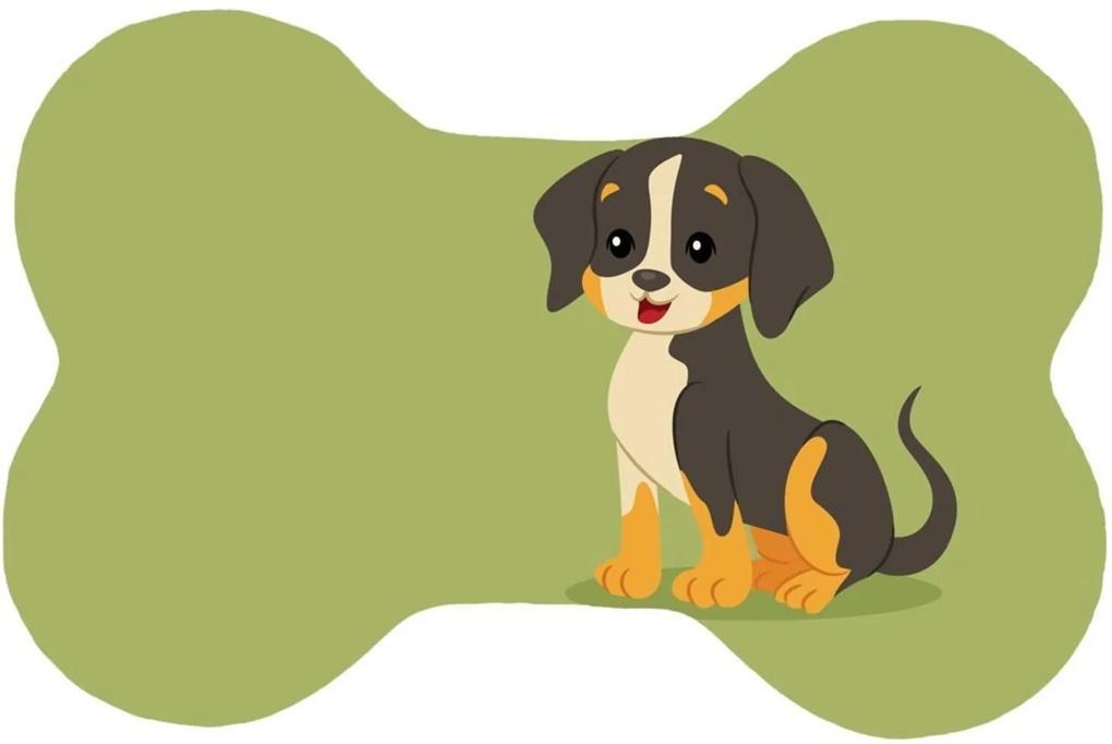 Tapete Wevans Pet Dog Green Verde