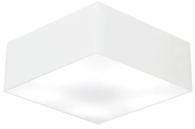 Plafon Quadrado Vivare Md-3050 Cúpula em Tecido 12/40x40cm - Bivolt - Branco - 110V/220V (Bivolt)