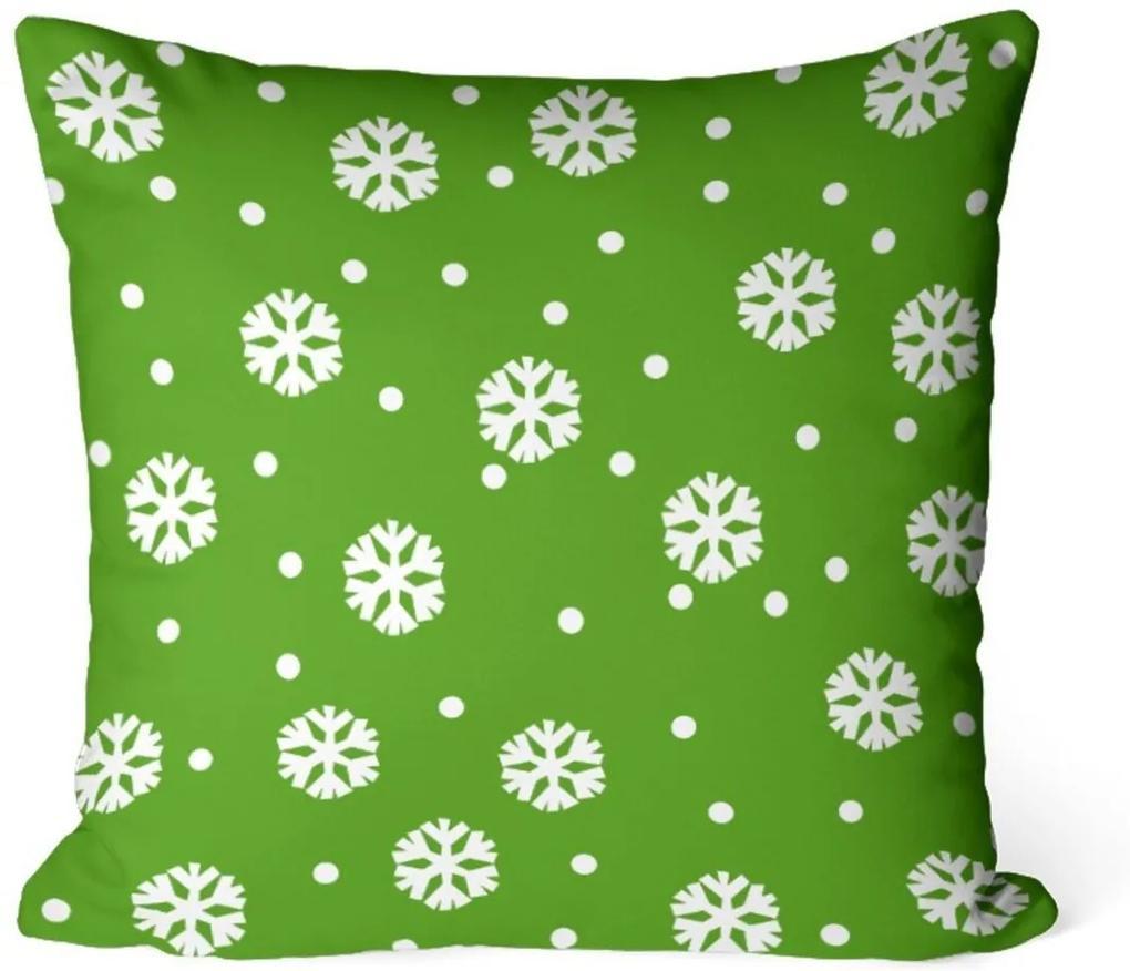 Capa de Almofada Love Decor Avulsa Decorativa Multi Flocos de Neve