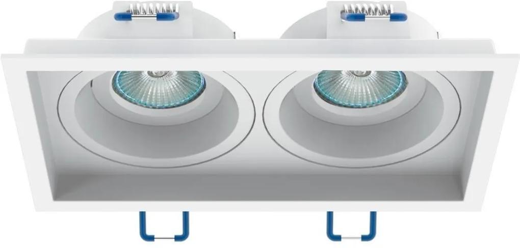 Plafon Embutir Duplo Branco Mini Dicroica Gu10 Recuado