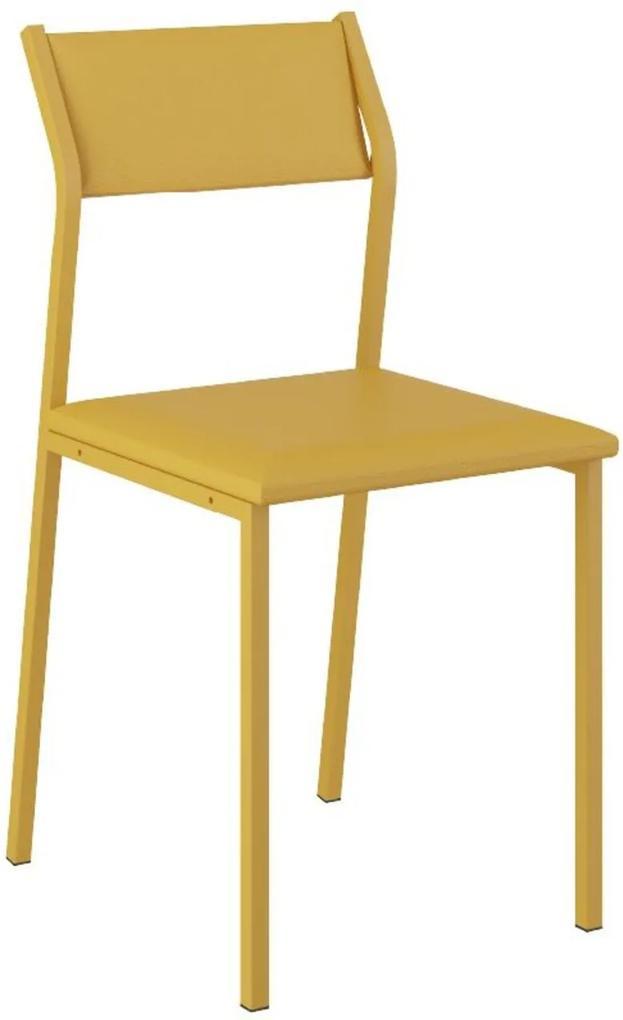 Cadeira Tubo Amarelo Napa Amarela Carraro
