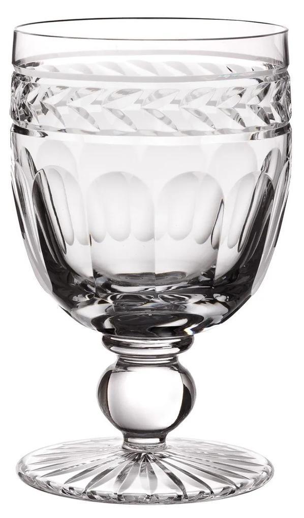 Taça de Cristal Lapidado Artesanal p/ Suco - Transparente - 17  Transparente - 17