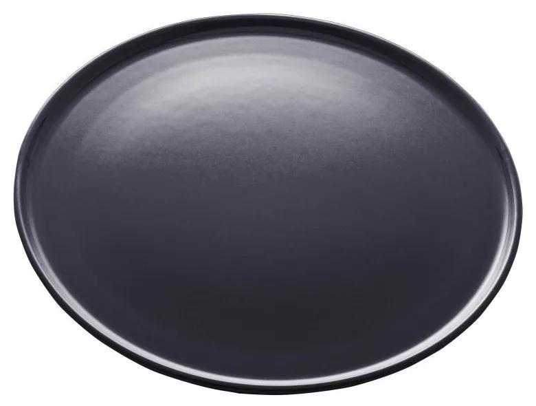 Jogo Pratos Rasos Cerâmica Vadim Azul Escuro 6 Peças 27cm 17682 Wolff