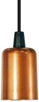 Lustre Pendente Soquete industrial Retro Soq: E27   Cor: Cobre   Tam: 6   Mod: Soquete
