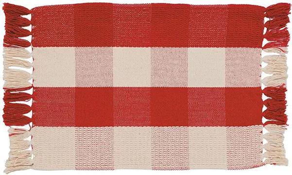 Lugar Americano Xadrez de 30 x 45 cm Vermelho