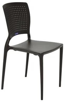 Cadeira Tramontina Safira Marrom em Polipropileno e Fibra de Vidro