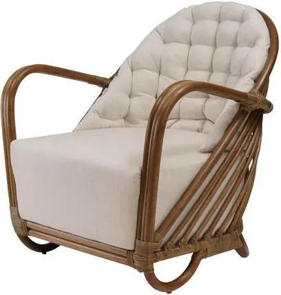 Poltrona Madison Assento Estofado cor Branco com Base Madeira Apui - 44851 Sun House