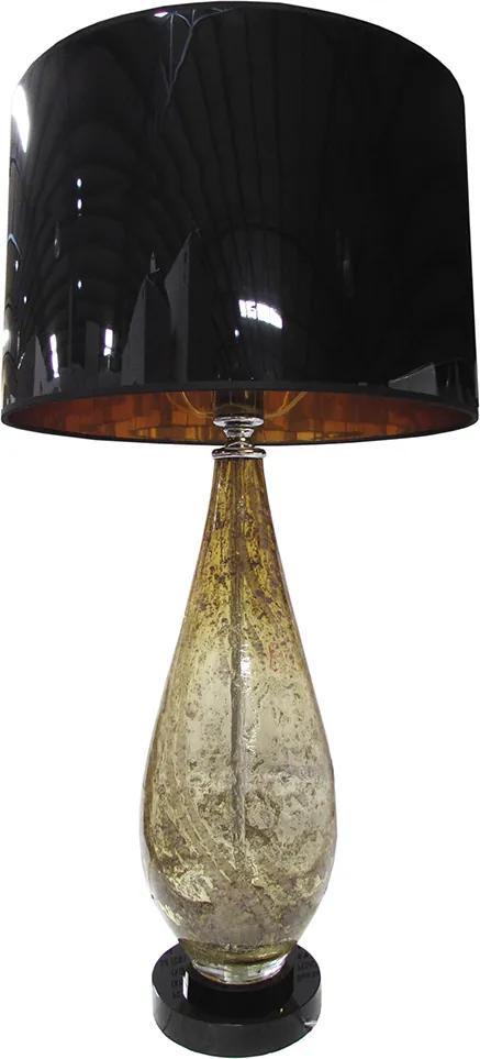 Abajur de Mesa Clássico em Vidro Âmbar 76 cm X 40 cm