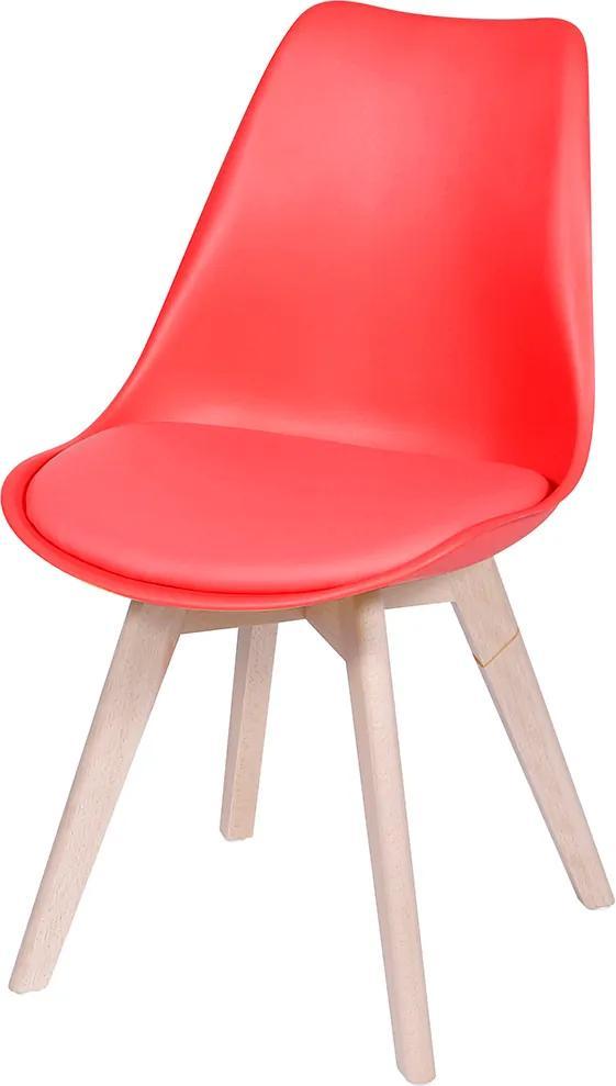 Cadeira Joly com Almofada Fixa – Vermelha